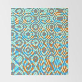 Mixed Polyps Orange - Coral Reef Series 038 Throw Blanket