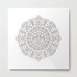 Steampunk Bird Mandala Metal Print