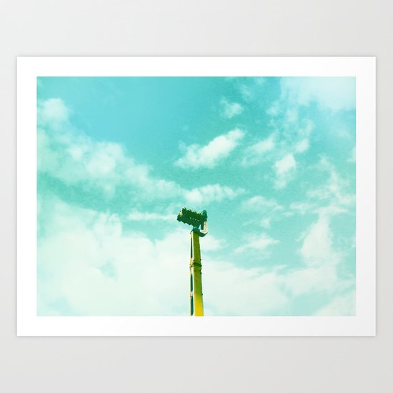 Leave your fears at home, darling Art Print