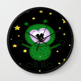 Martians Wall Clock