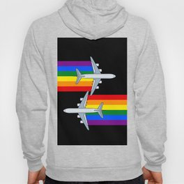 Rainbow Airlines 747 Lgbt gay pride aircraft plane Hoody