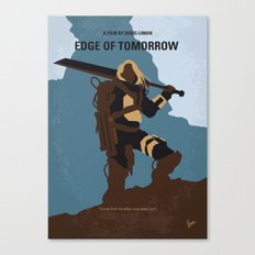 No790 My Edge of Tomorrow minimal movie poster Canvas Print