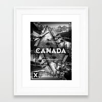 canada Framed Art Prints featuring Canada by Sophie Bland