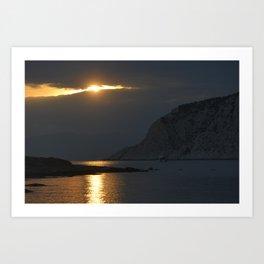 Poros sunset 12 Art Print