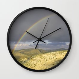 """If you want the RAINBOW you've got to deal with the rain"" Wall Clock"