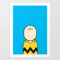 charlie brown Art Prints featuring Charlie by Ale Giorgini