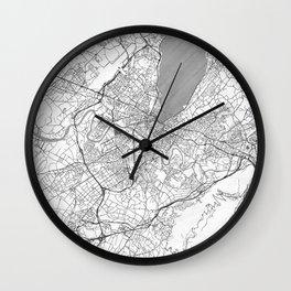 Geneva Map Line Wall Clock