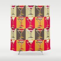 mod Shower Curtains featuring Mod Martinis by Holly Helgeson