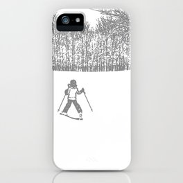 Little Skier II Grey iPhone Case