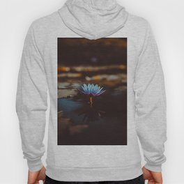 Purple & Blue Lotus Lily Flower Vintage Photography Floral Pond Hoody