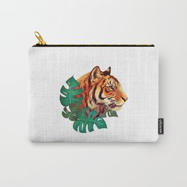 Monstera Tiger Carry-All Pouch