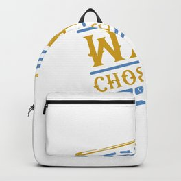 My Wand Chose Me Violin Fiddler Player Classical Jazz Backpack