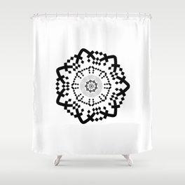 Aztec Mandala [BW VAR] Shower Curtain
