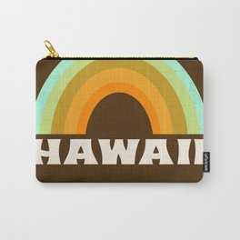 Hawaii retro vibes throwback rainbow colors trendy 1970s 70's minimalist Carry-All Pouch