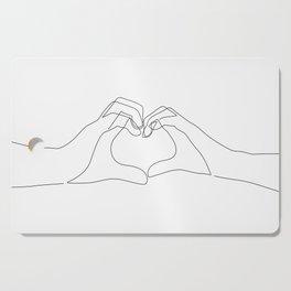Hand Heart Cutting Board