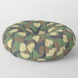 Heart Camo WOODLAND Floor Pillow