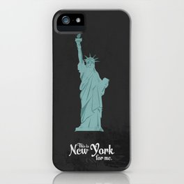 "This is New York for me. ""She"" iPhone Case"