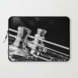 In Tune close up electric guitar tuning post and string Laptop Sleeve