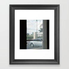 MOTEL view- MIAMI - by Jay Hops Framed Art Print