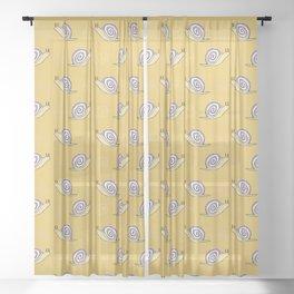 Snails & Swirls Pattern Sheer Curtain