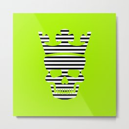 skull king green II Metal Print