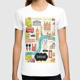 London Calling- Illustrated Map T-shirt
