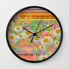 Daisy Cascade Wall Clock