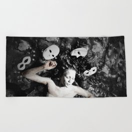 Masks Beach Towel
