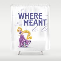 princess Shower Curtains featuring Princess by marta morselli