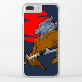 Wolf Samurai Clear iPhone Case