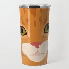 Allergy Free Cat Love: Ginger Tabby Travel Mug