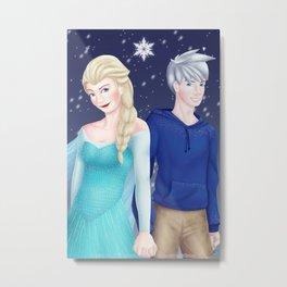 Jelsa - Elsa and Jack Metal Print