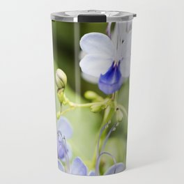 Blue Glory Bower Flowers Travel Mug
