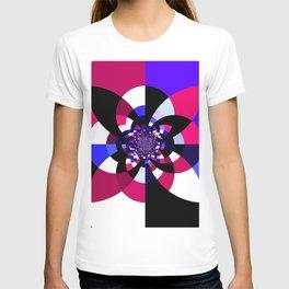 Magenta Purple Indigo Kaleidoscope Mandala T-shirt