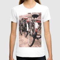 bikes T-shirts featuring Amsterdam Bikes by Ann Yoo