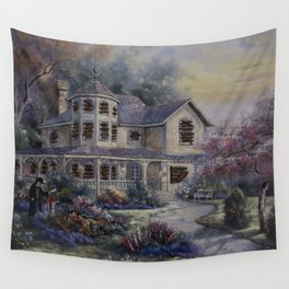 Altered Painting -Welcome Home Dresden Wall Tapestry