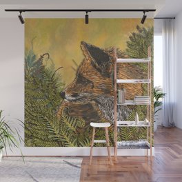 Ferny Fox Wall Mural
