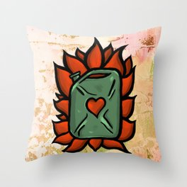 Huachicolero heart Throw Pillow