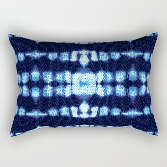 Tie-Dye Boho Knit Rectangular Pillow