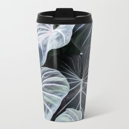 Tropical Foliage Metal Travel Mug