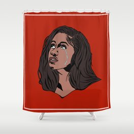 The Weeping Cardi B Shower Curtain