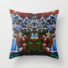 An Elaborate Headdress Throw Pillow