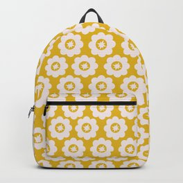 Canary Yellow Retro Floral Backpack