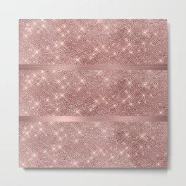 Rose Gold Sparkles Metal Print