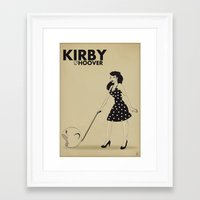 kirby Framed Art Prints featuring Kirby Hoover by Lily's Factory
