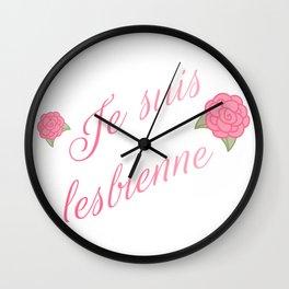 Je suis lesbienne Wall Clock