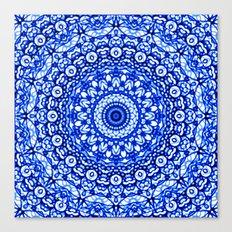 Blue Mandala Mehndi Style G403 Canvas Print