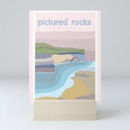 Pictured Rocks Michigan  Mini Art Print
