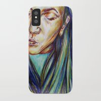leah flores iPhone & iPod Cases featuring Leah by Chloe Gibb