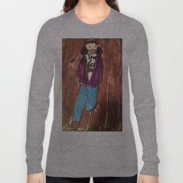 New Goth Boy hanging out  Long Sleeve T-shirt